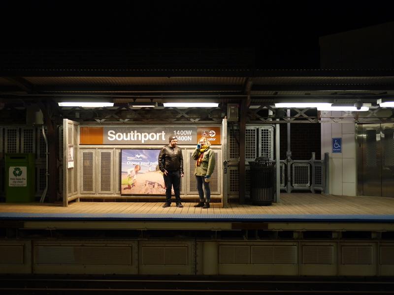 地下鉄券売機や自販機で困らない方法 シカゴの高架鉄道駅にて