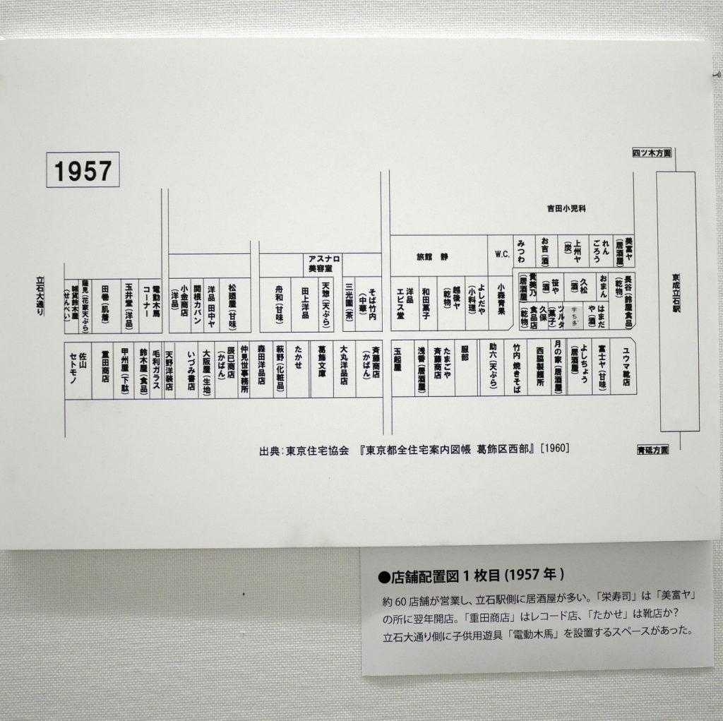 立石 宇ち多 葛飾区郷土と天文の博物館  商店街の店舗配置図  1957年 @葛飾区郷土と天文の博物館