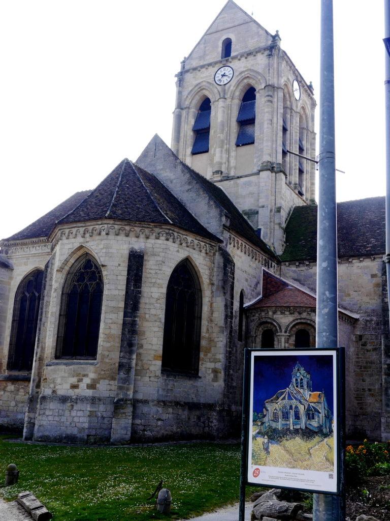 海外ツーリング フランス パリ オートバイレンタル ゴッホ オーヴェル シュル オワーズ オーヴェルの教会(L'église d'Auvers)とゴッホの作品