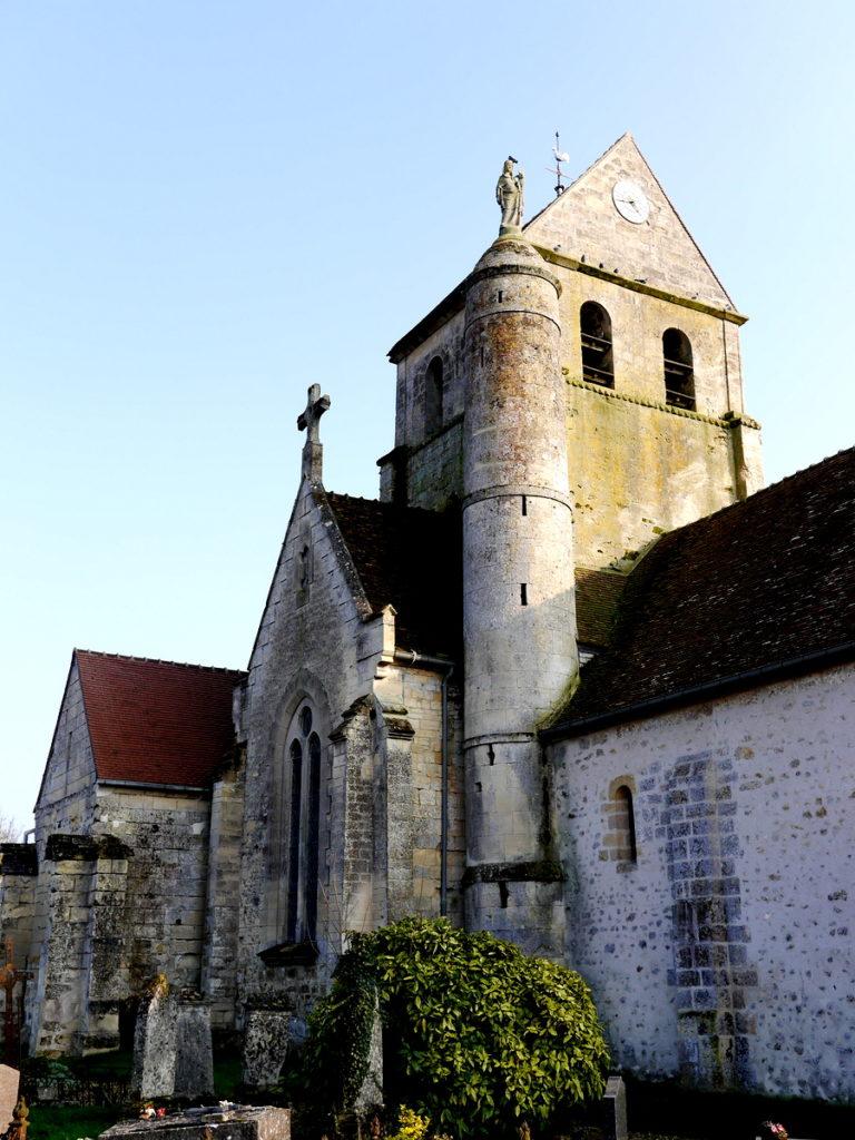 海外ツーリング フランス パリ オートバイレンタル ヴェクサン自然公園 グザングレ 農園 マスタード 田舎のパン屋  古い教会@Église Notre-Dame-de-l'Assomption de Gouzangrez