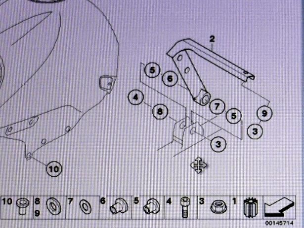 BMW R1150R のバッテリー交換方法  燃料タンク設置詳細図