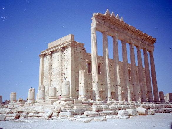 オリーブ石鹸 シリア ヨルダン 古代オリエント博物館 当時のパルミラ遺跡ベル神殿 @Palmyra