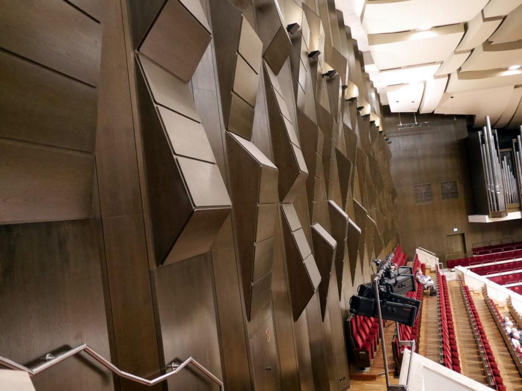 ヴィンヤード型コンサートホール ライプツィヒ・ゲヴァントハウス 音響拡散モジュール @Gewandhaus zu Leipzig