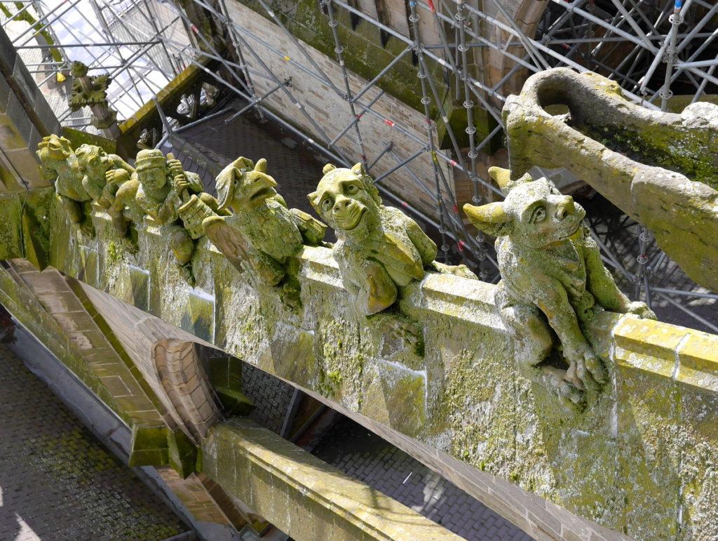 オランダ デンボス スヘルトゲンボス 訪問記 聖ヤン大聖堂 聖ジャンス聖堂 怪物たち 天使像  フライングバットレスの彫像たち @Sint-Janskathedraal