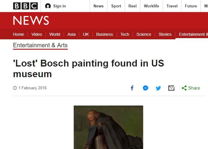 ヒエロニムス ボス オランダ デンボス スヘルトゲンボス 訪問記 北ブラバント美術館 ボス回顧展  'Lost' Bosch painting found in US museum