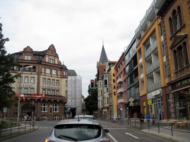 海外ツーリング ドイツ 旧東ドイツ オートバイレンタル アイゼナハ ヴァルトブルク城 ワルトブルク城 旧BMWアイゼナハ工場  アイゼナハの町に到着@Eisenach