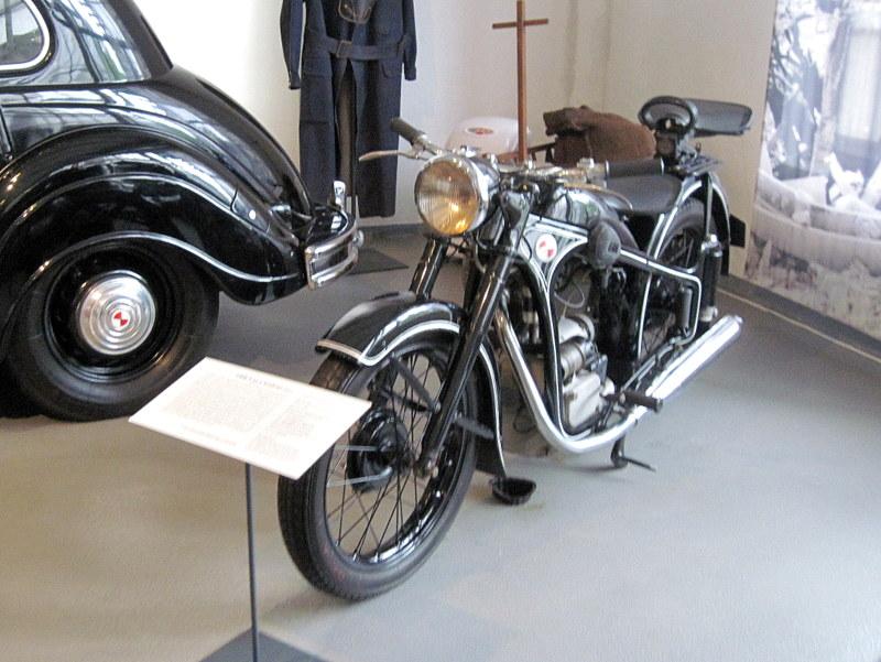 海外ツーリング ドイツ 旧東ドイツ オートバイレンタル アイゼナハ ヴァルトブルク城 ワルトブルク城 旧BMWアイゼナハ工場  EMW R35-3@Team Automotive Museum Eisenach e.V.
