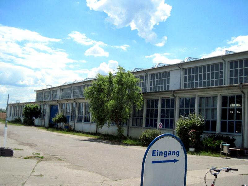 海外ツーリング ドイツ 旧東ドイツ オートバイレンタル デッサウ バウハウス デッサウ校 ユンカース技術博物館 ユンカース技術博物館外見@Technikmuseum Hugo Junkers