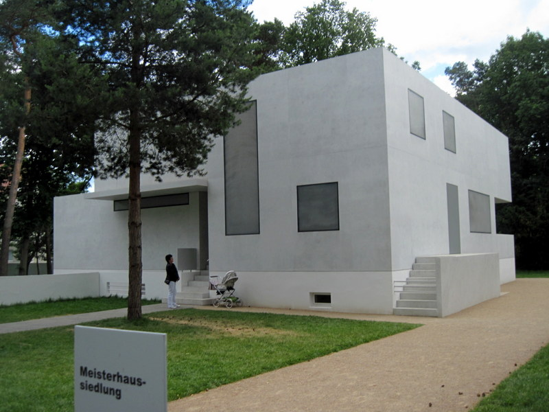 海外ツーリング ドイツ 旧東ドイツ オートバイレンタル デッサウ バウハウス デッサウ校  マイスターハウス@Bauhaus Dessau