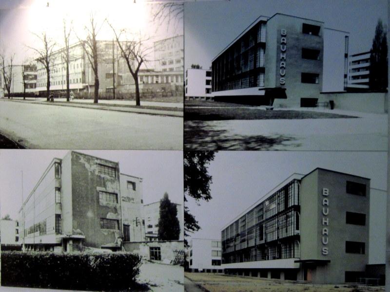 海外ツーリング ドイツ 旧東ドイツ オートバイレンタル デッサウ バウハウス デッサウ校   再建の様子@Bauhaus Dessau