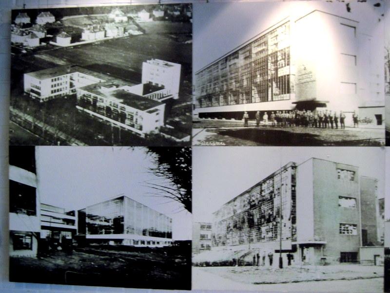 海外ツーリング ドイツ 旧東ドイツ オートバイレンタル デッサウ バウハウス デッサウ校 再建前の状況@Bauhaus Dessau