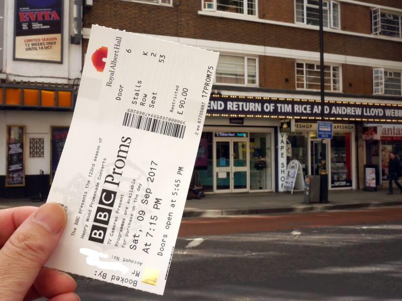 BBCプロムス最終夜の裏側 会場で欧州旗が目立った チケットを入手してひと安心@Tottenham Court Road