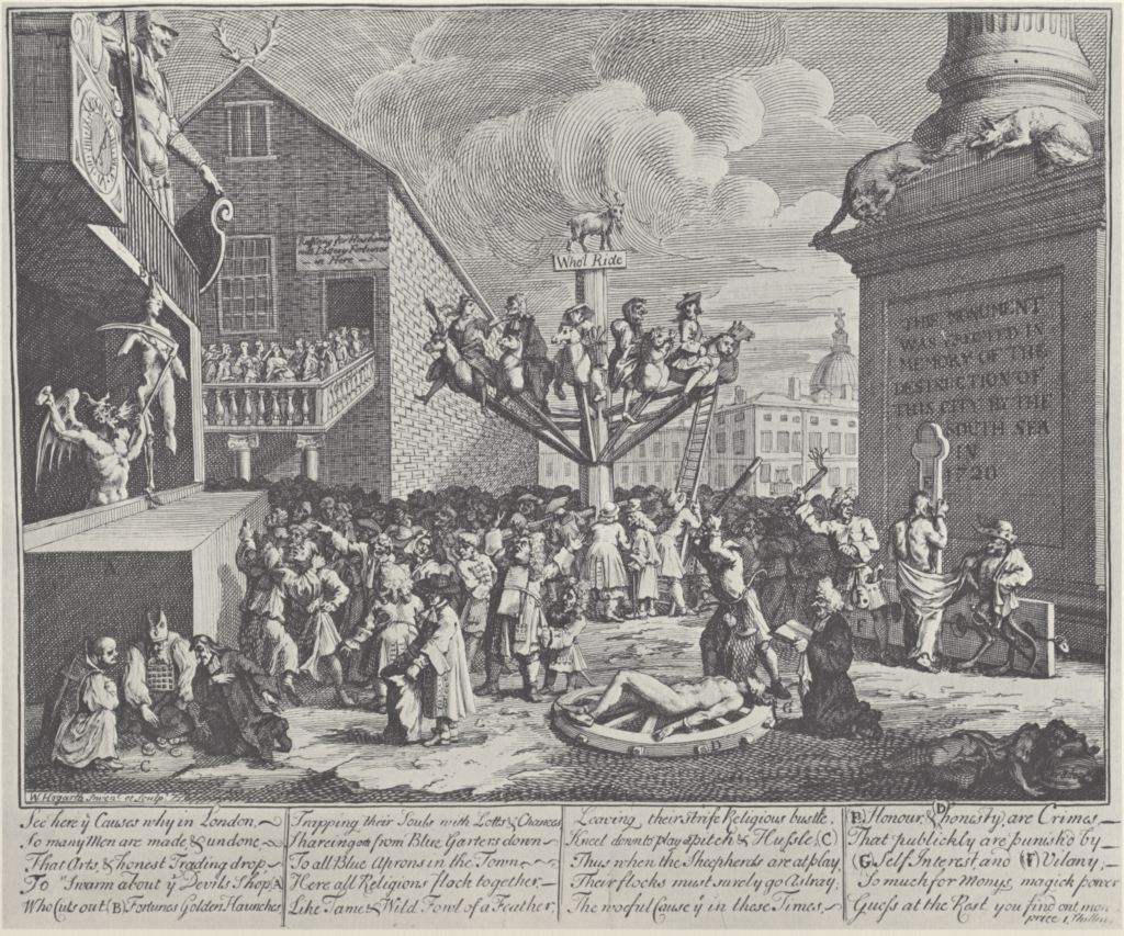 BBCプロムス最終夜 英国万歳 諷刺画で読む十八世紀イギリス ホガースとその時代 ホガース作 南海泡沫事件