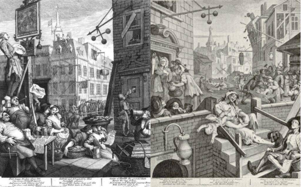 BBCプロムス最終夜 英国万歳 諷刺画で読む十八世紀イギリス ホガースとその時代  ホガース作 ビール通りとジン横丁
