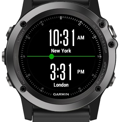 旅行で重宝するGSPランニングウォッチ ガーミン(GAMIN) ForeAthlete  World Clock Widget