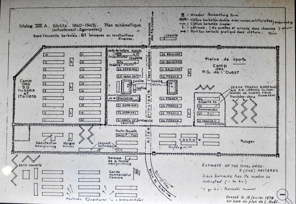メシアン 世の終わりのための四重奏曲 ゲルリッツの捕虜収容所 時の終わりへ メシアンカルテットの物語 捕虜収容所 Stalag VIII-A の図面@ゲルリッツ歴史博物館