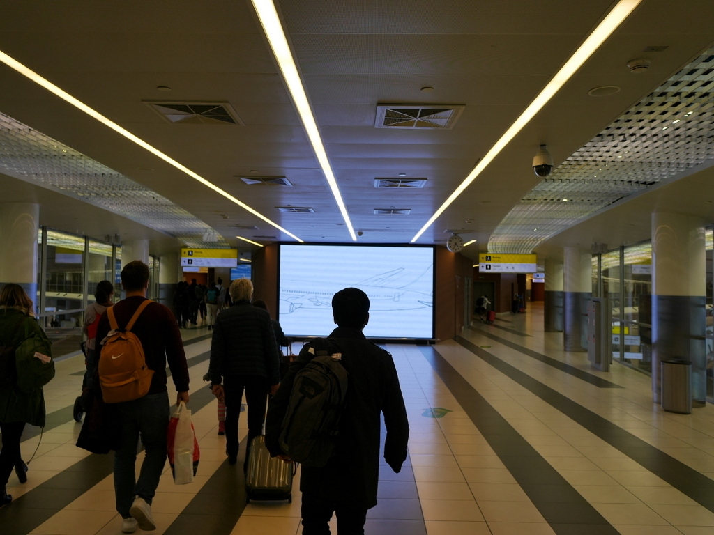大空港の乗り継ぎ(トランジット)のミスとロストバゲージの恐怖 この壁まで来たらほぼ到着@シェレメーチエヴォ空港