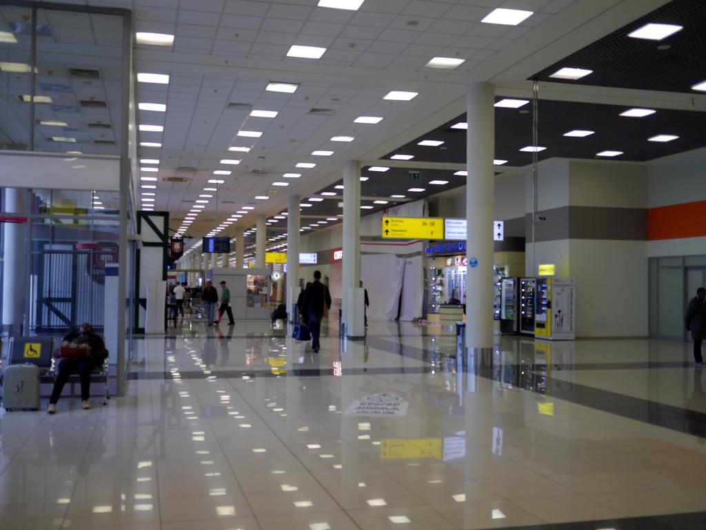 大空港の乗り継ぎ(トランジット)のミスとロストバゲージの恐怖 ターミナルEの各ゲートを通過する@シェレメーチエヴォ空港