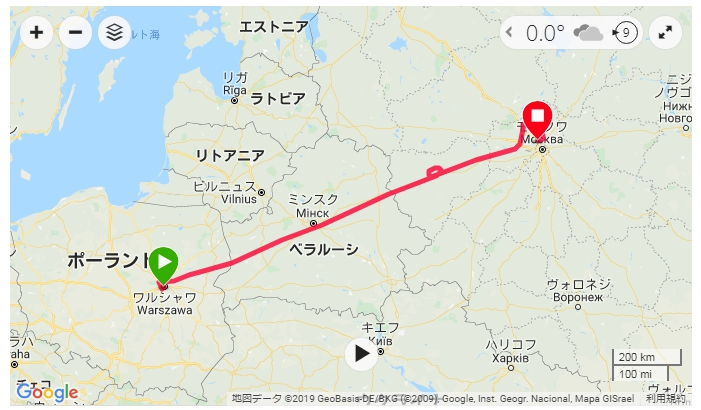 旅行で重宝するGSPランニングウォッチ ガーミン(GAMIN) ForeAthlete  ワルシャワ-モスクワ間フライト