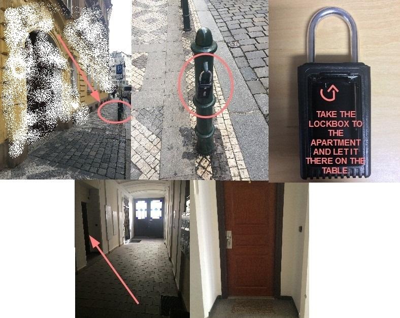 海外アパートの鍵の開け方 鍵の受け渡し方法写真が丁寧だった @プラハ