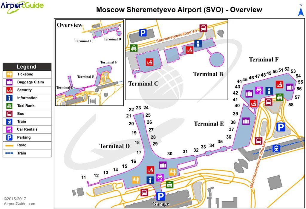 大空港の乗り継ぎ(トランジット)のミスとロストバゲージの恐怖 ゲート番号 @シェレメーチエヴォ国際空港