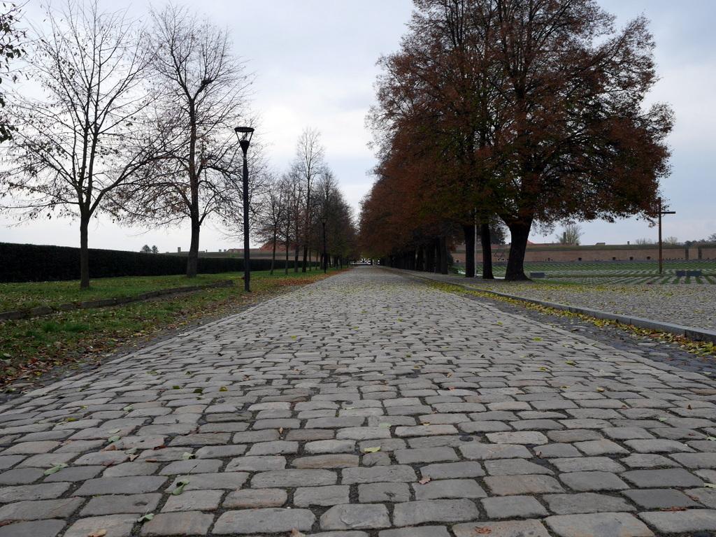 プラハ近郊 テレジーン テレジン テレージエンシュタット 小要塞  遠方にテレジーン小要塞が見えてくる @Malá pevnost Terezín