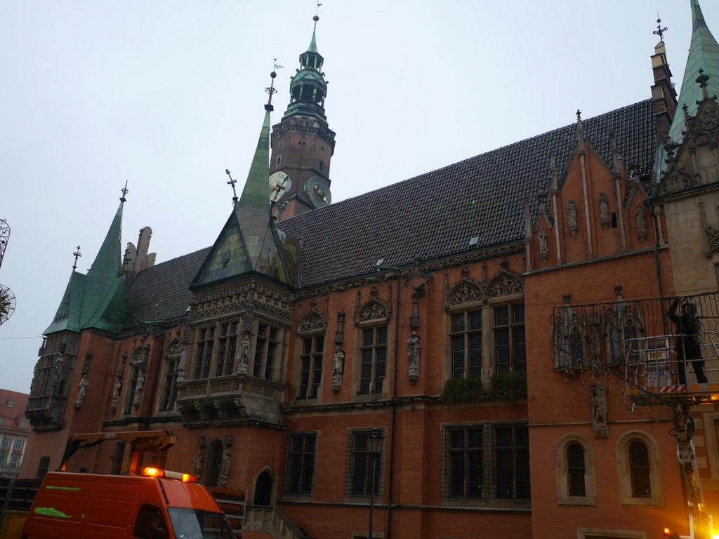 シロンスク シレジア 地方 ヴロツワフ ブロツワフ ブロツラフ ブレスラウ 中央市場広場 旧市庁舎 @Wrocław Town Hall