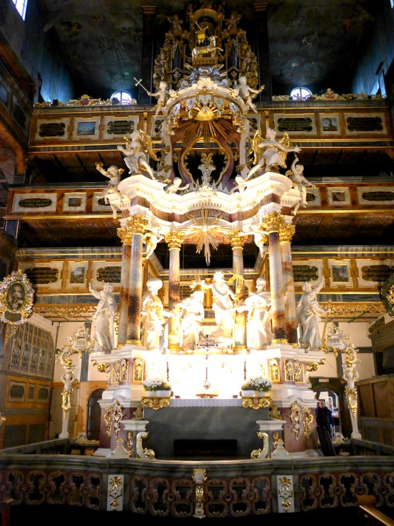下シレジア地方 ポーランド シュフィドニツァ シフィドニツァ 平和教会  祭壇 @Kościół Pokoju w Świdnicy