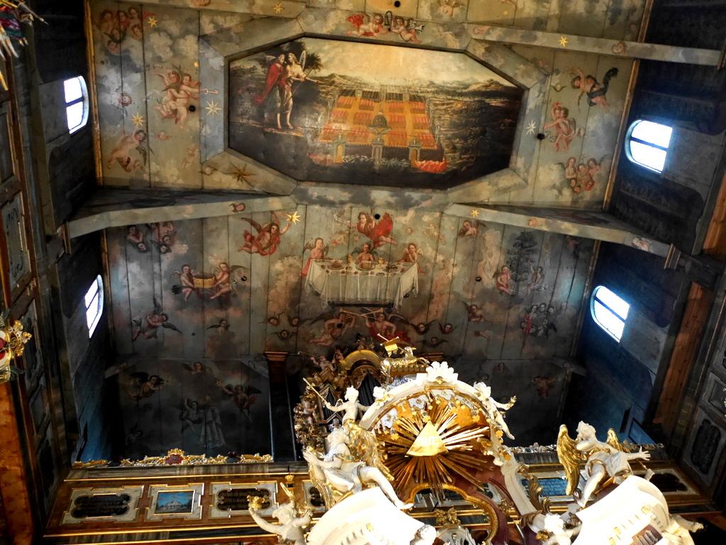 下シレジア地方 ポーランド シュフィドニツァ シフィドニツァ 平和教会  祭壇の上の天井画 @Kościół Pokoju w Świdnicy