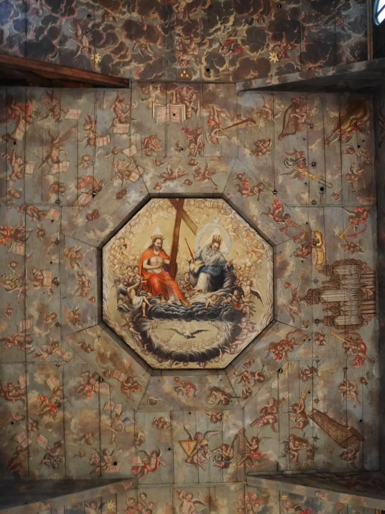 下シレジア地方 ポーランド シュフィドニツァ シフィドニツァ 平和教会  天井画 @Kościół Pokoju w Świdnicy