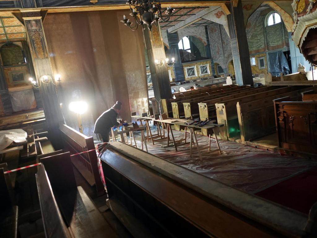 下シレジア地方 ポーランド シュフィドニツァ シフィドニツァ 平和教会 修復作業の様子 @Kościół Pokoju w Świdnicy