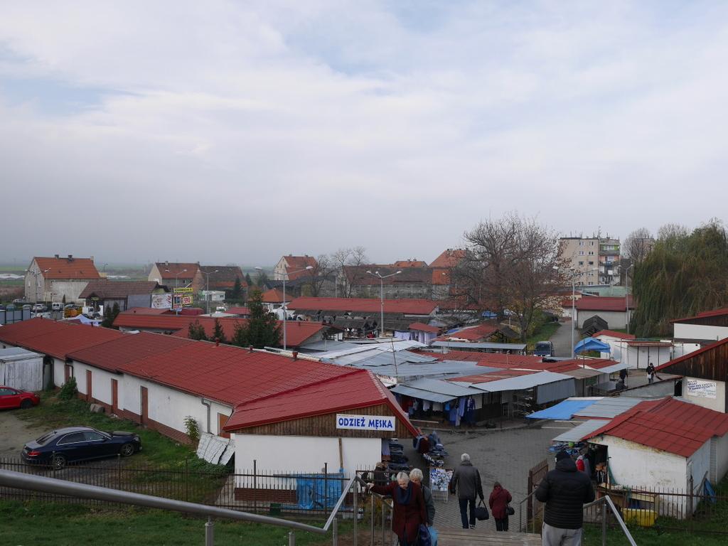 下シレジア地方 ポーランド  ヤボル  平和教会  高台から市場を臨む @Jawor