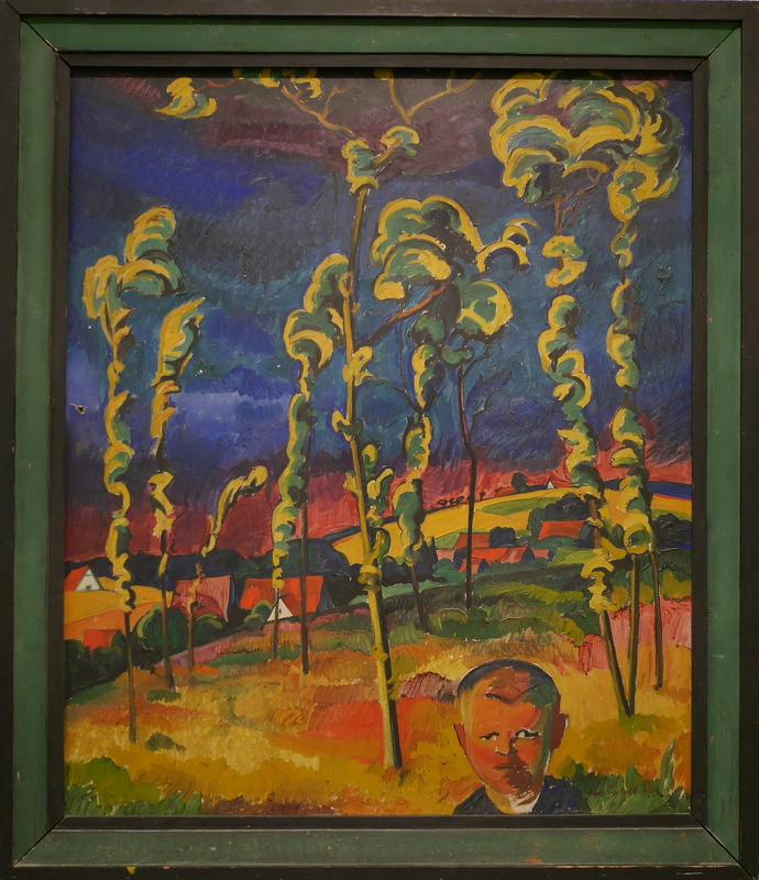 ゲルリッツ 博物館 シレジア博物館  カール・ロバート・ポールの「雷雨の中の楢の木」 @Schlesisches Museum zu Görlitz