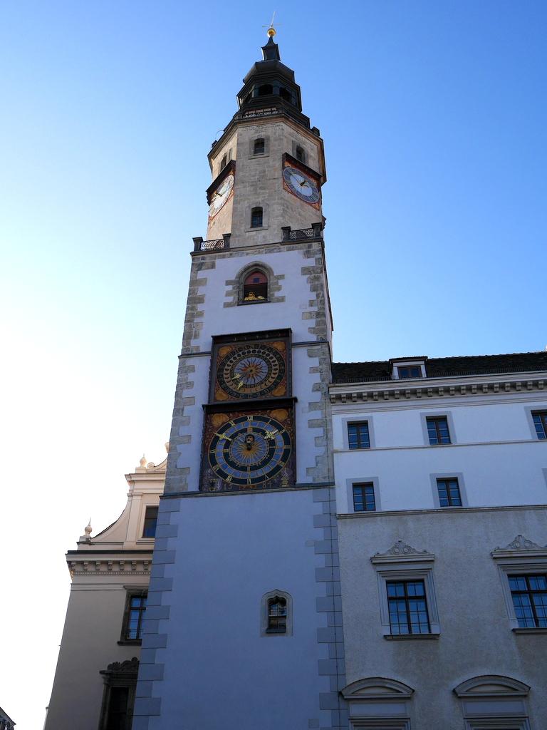 ゲルリッツ ドイツ ゲルリッツ駅 ザンクト ペテルス教会 市庁舎(Town Hall Tower) @Görlitz