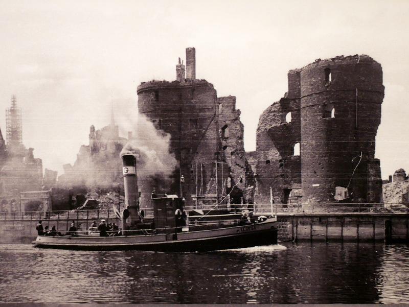 グダニスク グダンスク ダンツィヒ 博物館 港町 ポーランド 海事博物館 海洋博物館  グダニスク歴史博物館 クレーン(Żuraw)の廃墟 と思われる写真 @Muzeum Gdańska