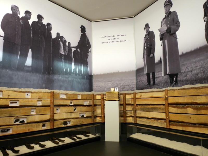 グダニスク グダンスク ダンツィヒ 博物館 戦争 ポーランド ポーランド郵便局 処刑関連の展示 @Poczta Polska