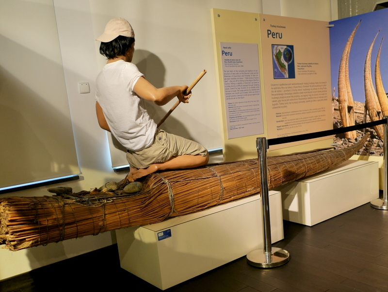 グダニスク グダンスク ダンツィヒ 博物館 港町 ポーランド 海事博物館 海洋博物館  海洋文化センター ペルーの葦の筏(Reed rafts) @Ośrodek Kultury Morskiej