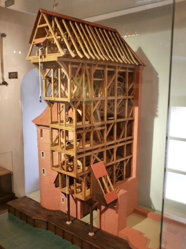 グダニスク グダンスク ダンツィヒ 博物館 港町 ポーランド 海事博物館 海洋博物館  クレーン博物館 グダニスククレーンの模型 @Żuraw