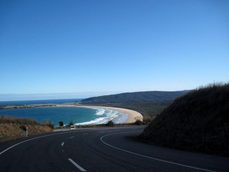 海外ツーリング ニュージーランド ロード オブ ザ リング オートバイレンタル ダニーデン カトリンズ地方 美しい海岸線 @Papatowai
