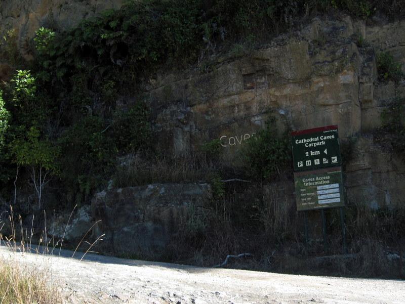 海外ツーリング ニュージーランド ロード オブ ザ リング オートバイレンタル ダニーデン カトリンズ地方 カテドラル洞窟入口 @Cathedral Cave