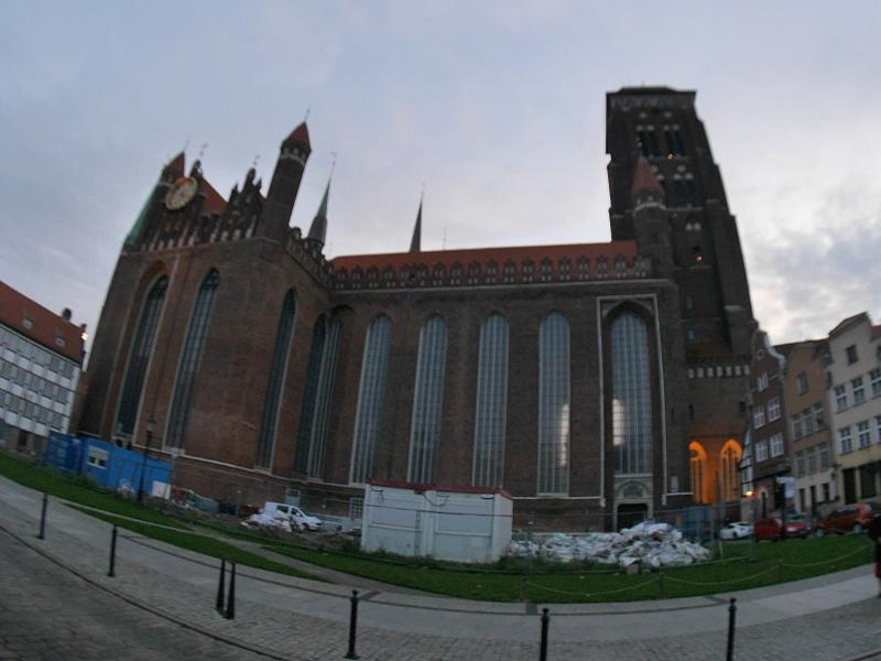 グダニスク グダンスク ダンツィヒ ポーランド 琥珀 聖ブリギダ教会 ヴェステルプラッテ 聖マリア教会 教会外観 @St. Mary's Church, Gdańsk