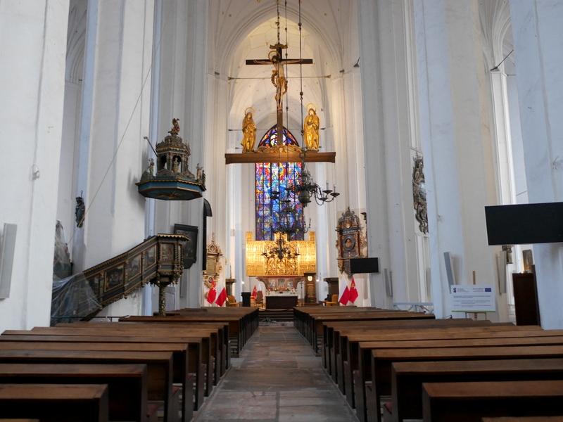 グダニスク グダンスク ダンツィヒ ポーランド 琥珀 聖ブリギダ教会 ヴェステルプラッテ 聖マリア教会 教会内部 @St. Mary's Church, Gdańsk