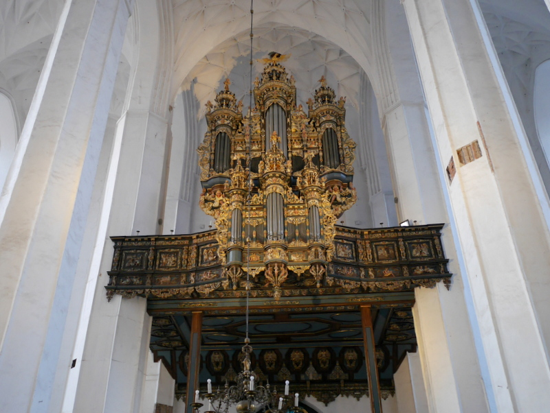 グダニスク グダンスク ダンツィヒ ポーランド 琥珀 聖ブリギダ教会 ヴェステルプラッテ 聖マリア教会 オルガン @St. Mary's Church, Gdańsk