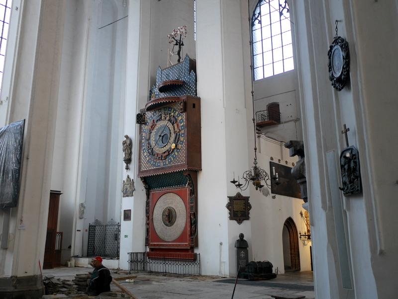 グダニスク グダンスク ダンツィヒ ポーランド 琥珀 聖ブリギダ教会 ヴェステルプラッテ 聖マリア教会  天文時計 @St. Mary's Church, Gdańsk
