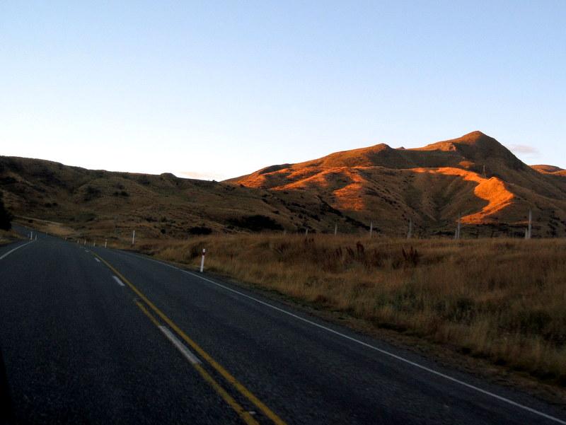 海外ツーリング ニュージーランド ロード オブ ザ リング オートバイレンタル テ アナウ クイーンズタウン 黄金色の丘 @The Key