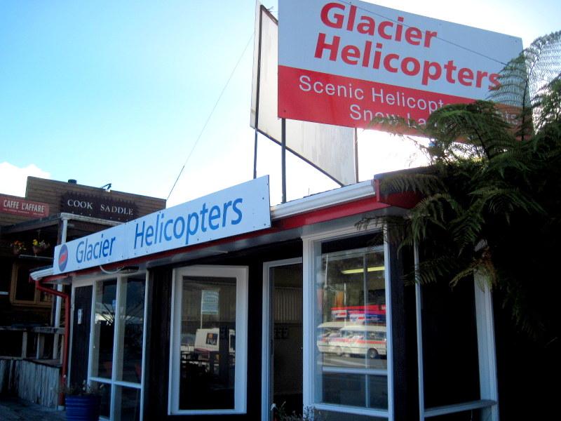 海外ツーリング ニュージーランド オートバイレンタル マウント クック 最高峰 アオラキ フォックス氷河 ヘリコプターツアー フォックス・グレイシャー ツアーの申込所 @Fox Glacier