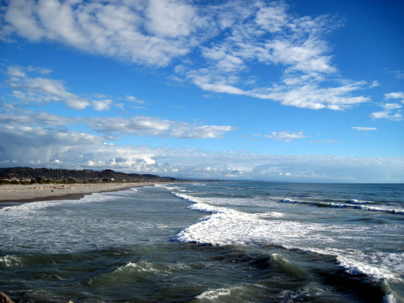 海外ツーリング ニュージーランド ロード オブ ザ リング オートバイレンタル グレイマウス 地ビール Monteith's  タスマン海 @Greymouth