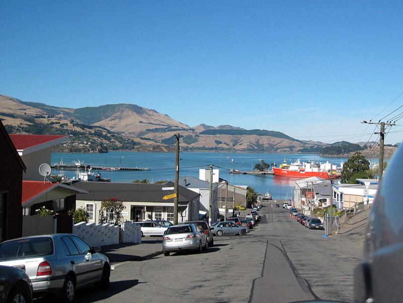 海外ツーリング ニュージーランド ロード オブ ザ リング オートバイレンタル   クライストチャーチ リトルトン 屋外市場 リトルトンの街 @Lyttelton