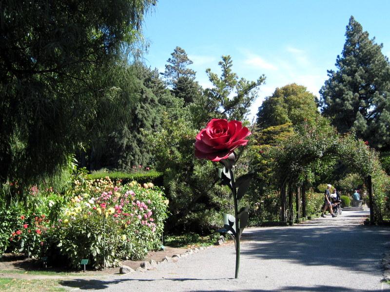 海外ツーリング ニュージーランド ロード オブ ザ リング オートバイレンタル クライストチャーチ カンタベリー博物館 クライストチャーチ植物園 バラ園入口 @Botanical Garden Christchurch