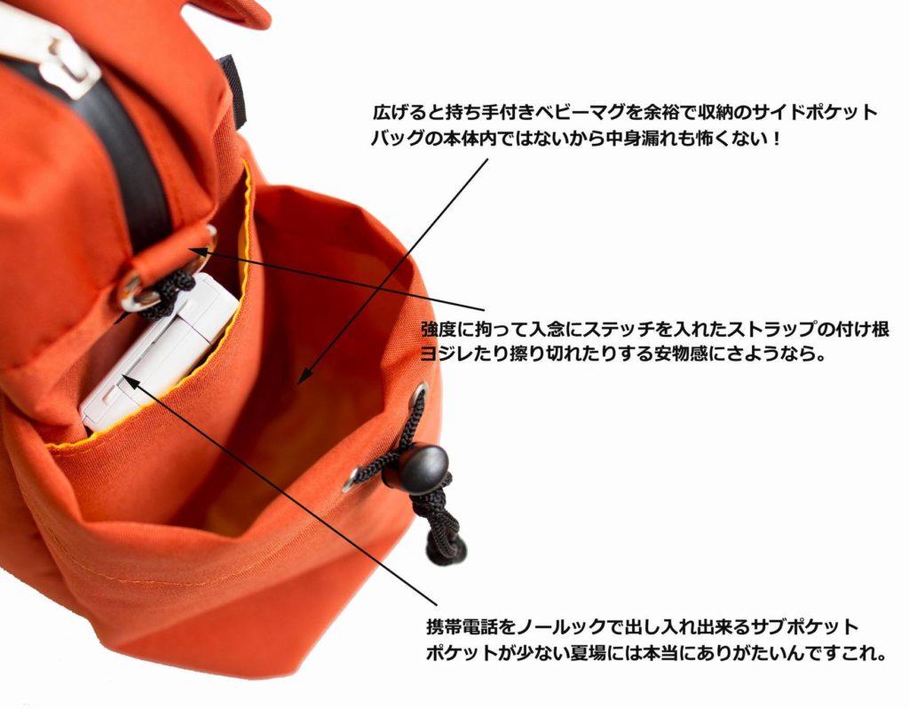 旅行鞄の決定版 ファザーズバッグ agnateマグポケット(TRICKS ホームページより)